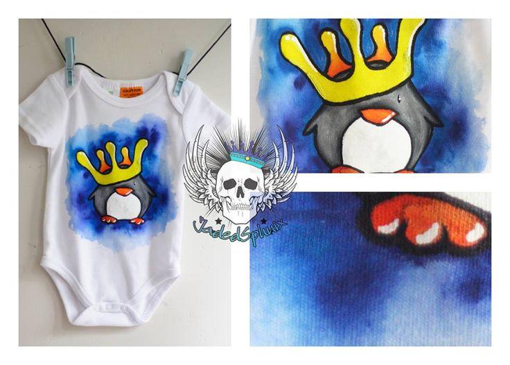 King Penguin custom baby onesie
