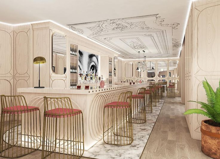 Bars don't always have to be masculine working on something new for a luxury restaurant space #workinprogress #3Drender