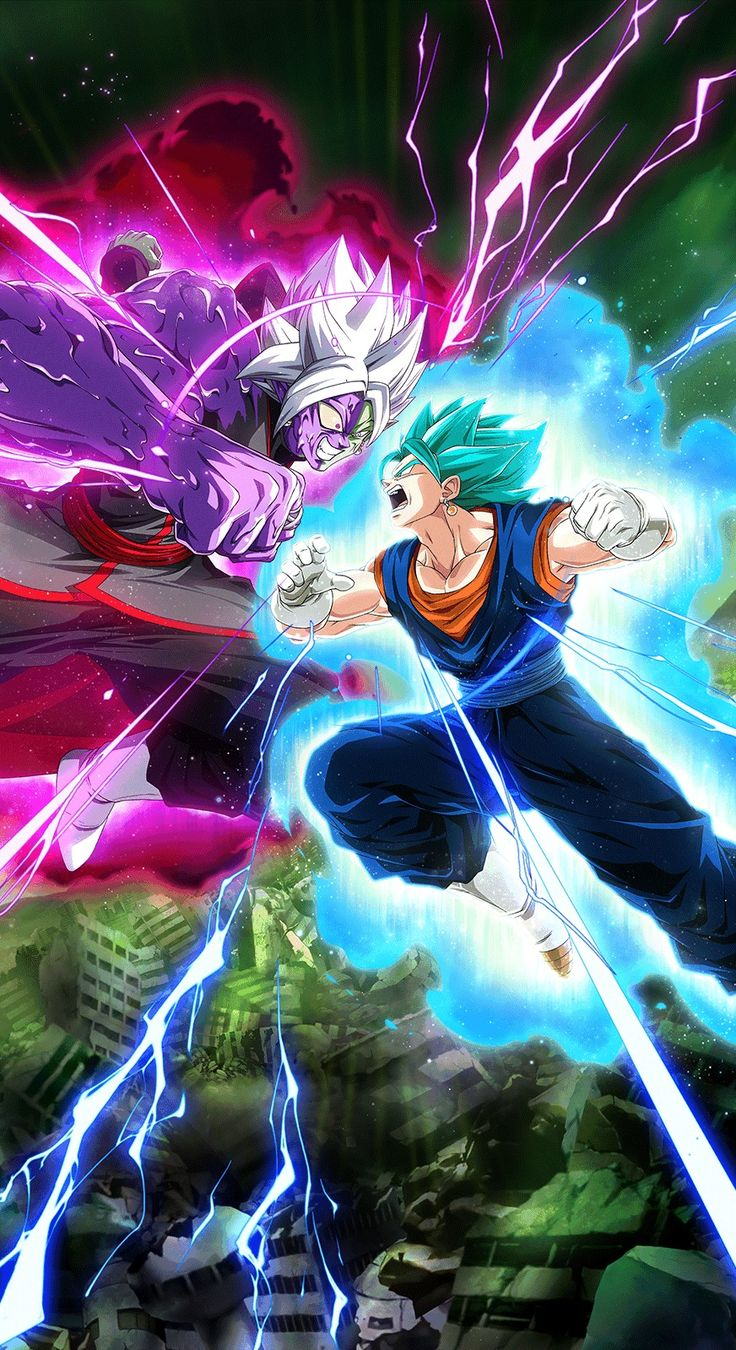 Vegito Blue vs Corrupted Zamasu in 2020 Anime dragon