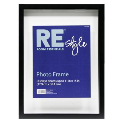 room essentials float frame black 11x15 prob 13x19 without the matting good for