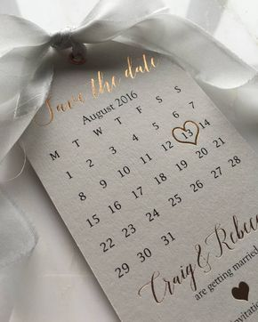 """1,437 Likes, 77 Comments - @down.the.aisle on Instagram: """"Obsessed with these Rose Gold Save the Date Tags by @SilkBeau  #savethedate #savethedates…"""""""