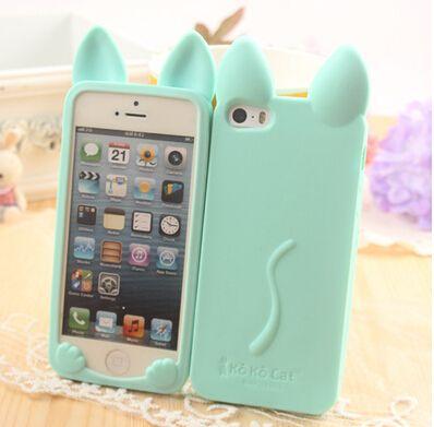 Купить товарЧехол, корейский милый кролик уши силикон мобильный телефон защитный чехол для iPhone 5C 5 5S 4 4S капа пункт Fundas в категории Сумки и чехлы для телефоновна AliExpress.     Симпатичный кролик уши крышка мобильного телефона силикона защитный чехол для iPhone 5C 5 5S 4 4S     &n