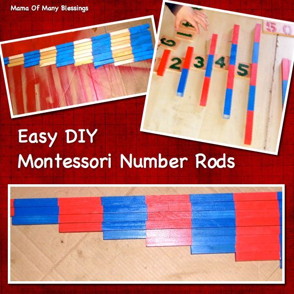 A tutorial on how to make your own Easy DIY Montessori Number Rods. A cheap and easy way to make your own Montessori Materials.