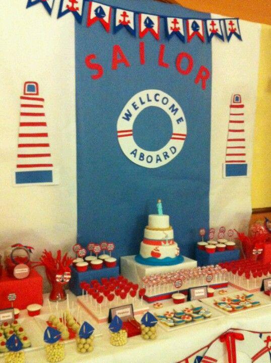 Diseño y decoración# eventos# sevilla# mesa dulce marinera# comunión