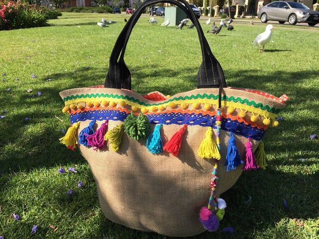 Ladies Summer Beach Bag, bohemian, summer tote,  Frida Kahlo Mexican ladies handbag, free gift,  Christmas gift idea for mum by BelaCiganaBags on Etsy