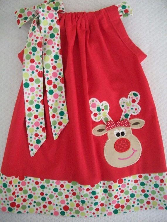 Vestidos De Niñas Para Navidad - Bs. 4.200,00 en MercadoLibre