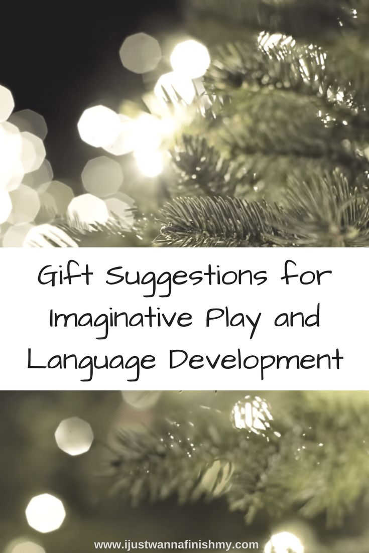 Gift suggestions for imaginative play and language development