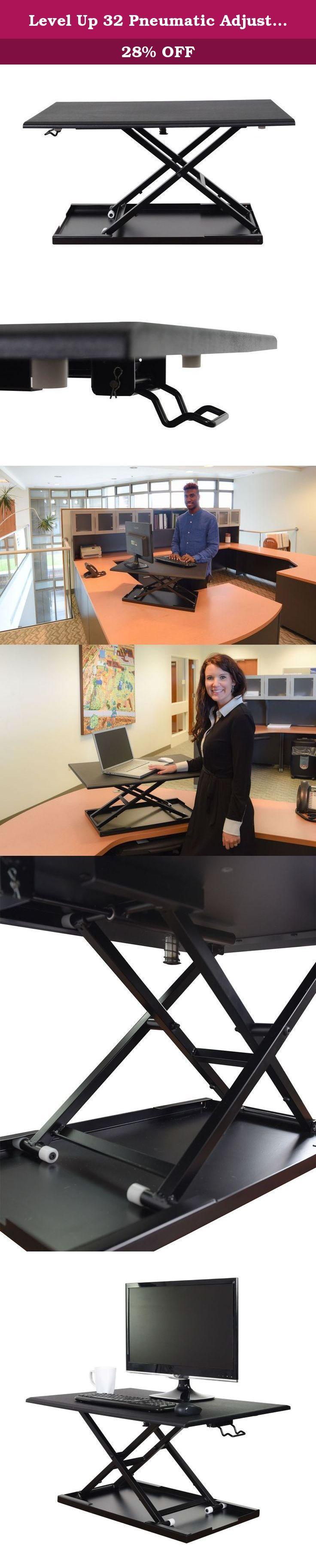 Level Up 32 Pneumatic Adjustable Desktop Desk. Level Up 32 Pneumatic Adjustable Desktop Desk.