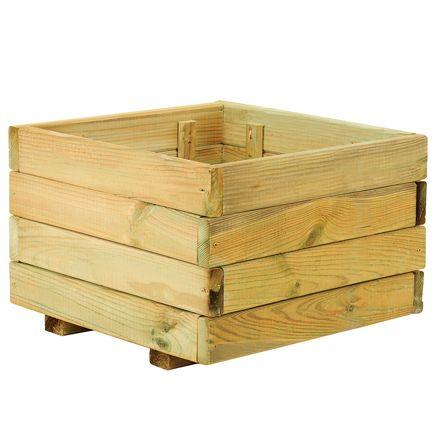 Jardinera de madera madera leroy merlin plantas y for Sofa exterior leroy