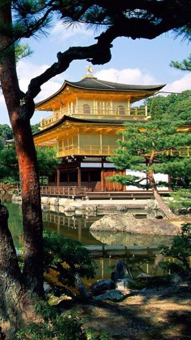 Golden Pavilion in Kyoto, Japan. One of my favorites. Guess that's why I