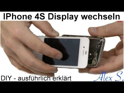 IPhone 4S Display. Touchscreen, wechseln, austauschen, reparieren in Deutsch - YouTube