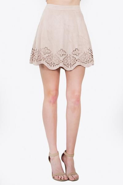 MAKE ME BLUSH SUEDE SKIRT - The Shop For Her