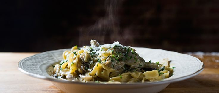 Marc Vetri marries Old World pasta-making techniques with modern flavors in thoughtful and delicious dishes like this tagliatelle with wild mushroom ragout.