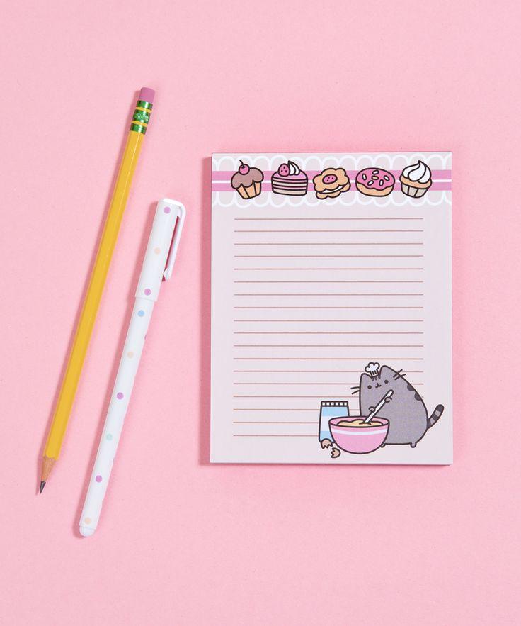 Baking Pusheen notepad
