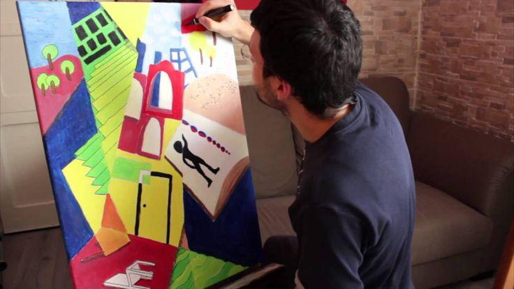 Dipingere quadro olio su tela astratto - Parte 2 (Ritocchi finali)