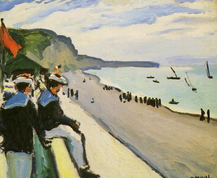 Albert Marquet (French, 1875-1947) - The Beach of Fécamp, 1906 - Oil on canvas (Musée national d'art moderne, Paris)