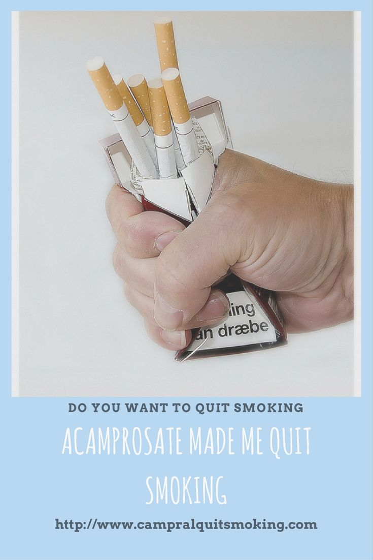 Acamprosate - Possible Stop Smoking Drug  Acamprosate might be efficacious in treating nicotine addiction in humans. Read more at http://www.campralquitsmoking.com/