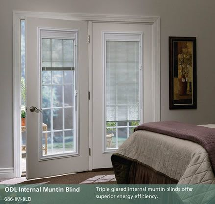 French Patio Doors with Blinds Between Glass | DoorPro Entryways, Inc. - Patio Doors