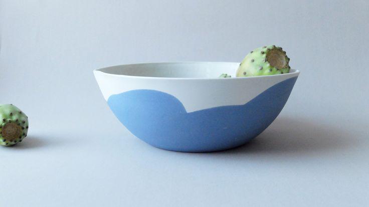 Large ceramic bowl, porcelain dish, rustic dinnerware, pasta bowl, blue dishes, serving bowl, ceramic bowl, salad bowl, hostess gifts by SinDstudio on Etsy https://www.etsy.com/listing/243728781/large-ceramic-bowl-porcelain-dish-rustic