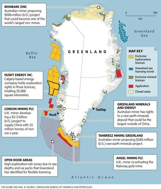 Natural Resource Map of Greenland