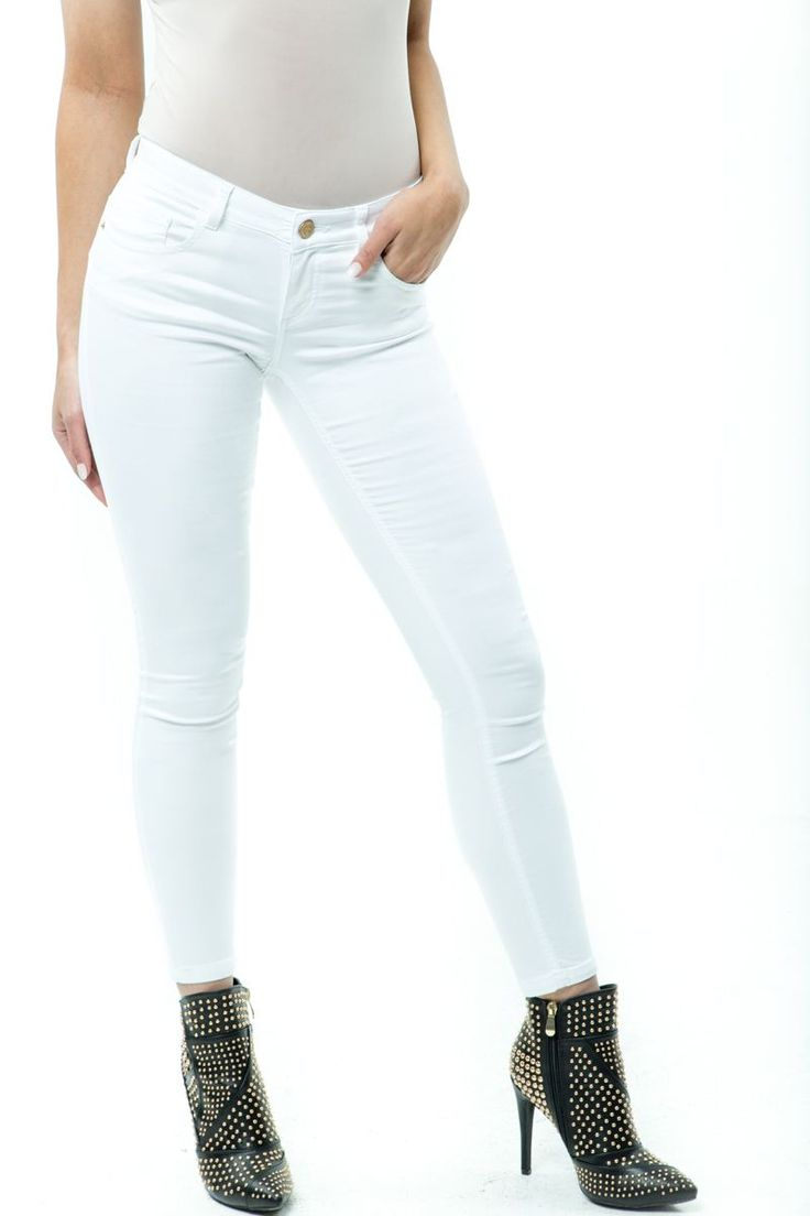 Buy Online DENIM Jeans offers Push Up Lavanda Cola Stretch Skinny Jeans In White, push up jeans salsa jeans,  push up shorts push up lavender,  oil jean levanta cola.