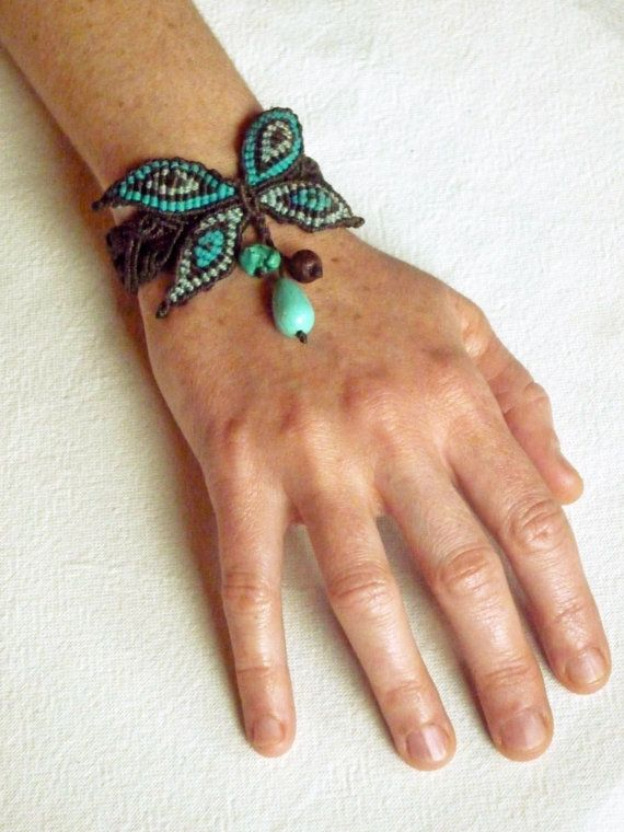 butterfly bracelet by ESCARBOUCLE on Etsy, €55.00