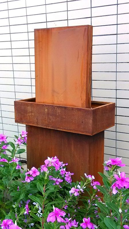 Outdoor Decor :: Water Features :: Rectangle Tall Water Feature Garden Decor -