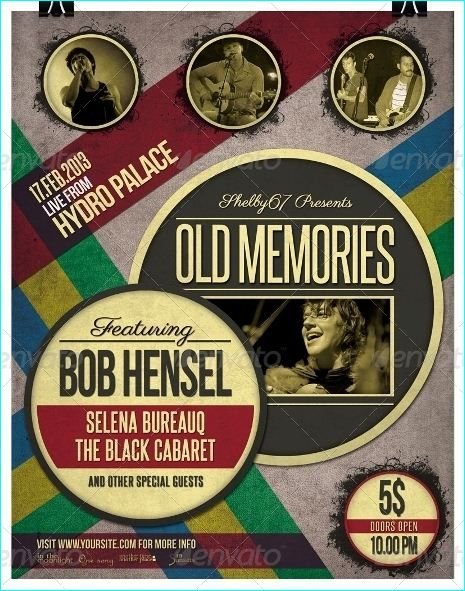 21 best Vintage \ Retro for Event \ Party Flyer Templates images - retro flyer templates