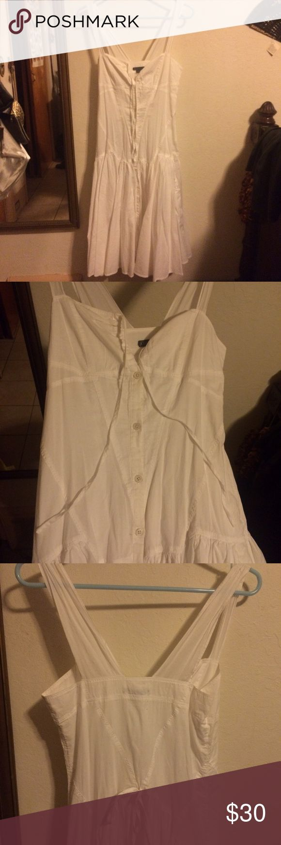 Armani Exchange White Dress Armani Exchange white spring dress! Super cute boho style. Does not fit in the chest area, so I have to let it go. It's in near- perfect condition. Make an offer!✨If we agree on a price I can repost and item may be eligible for discounted shipping 😄 Armani Exchange Dresses