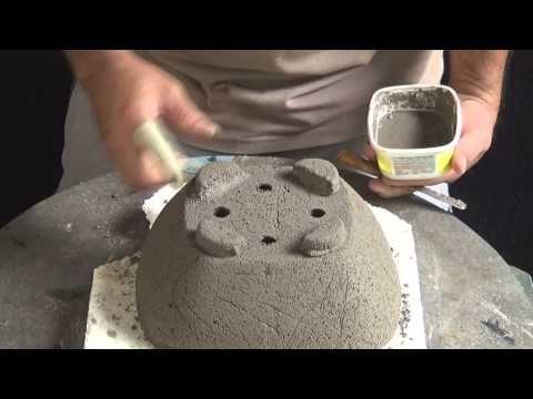 Fabricando seu próprio vaso de cimento | Cantinho do Video
