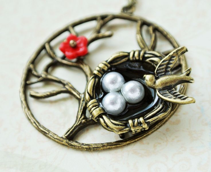 A personal favorite from my Etsy shop https://www.etsy.com/listing/251419738/bird-nest-necklace-nest-pendant-jewelry