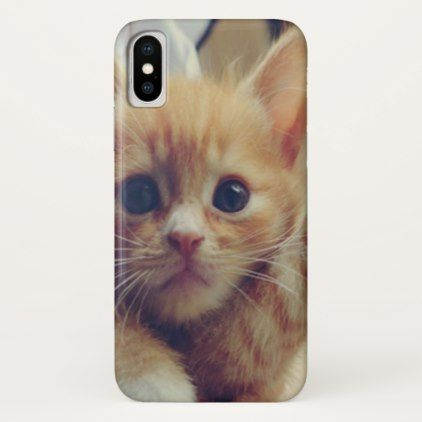 Cute Adorable Fluffy Orange Baby Kitten iPhone X Case - baby gifts child new born gift idea diy cyo special unique design