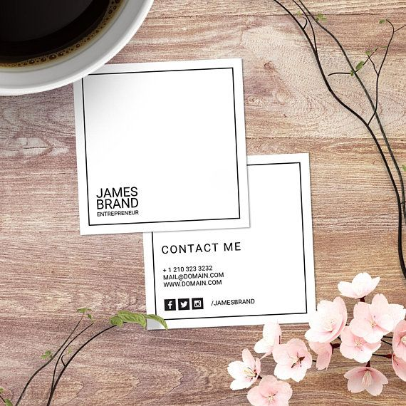 Minimalist Square Business Card Minimal Business Cards Set Simple Calling Cards 2 5 X 2 5 3 5 X 2 Psd File Digital Download Business Cards Minimal Business Card Set Minimal Business Card