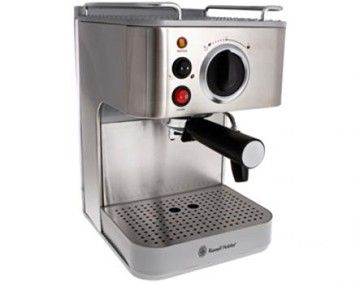 Features/Specifications Product code: RH1915 Optional: 1 large or 2 small cups Permanent stainless steel filter Removable water tank Adjustable panatela head for frothy cappuccino Constant 15 bar pump pressure Makes espresso or cappuccino 1000W For domestic use only