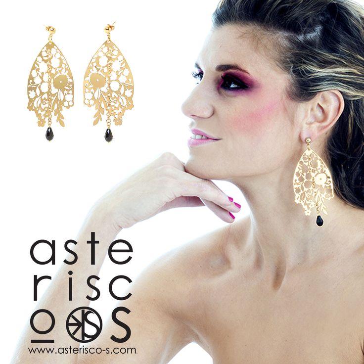 Bouquet earrings gold Asterisco-S