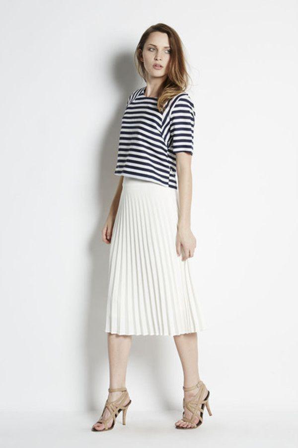 JOA Nautical Stripe Crop Top on sale up to 70% off - Garmentory