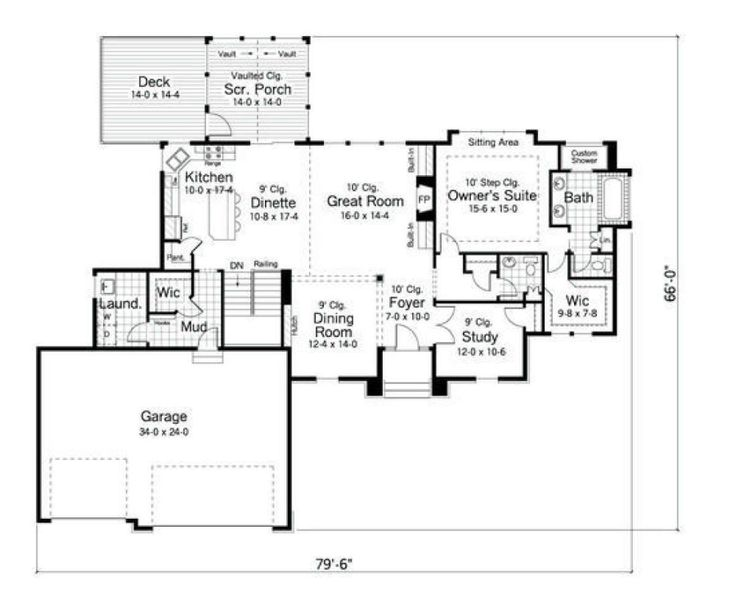 House Plan 098 00006 Ranch Plan 1 873 Square Feet 2 Bedrooms 2 Bathrooms House Plans How To Plan Square Feet