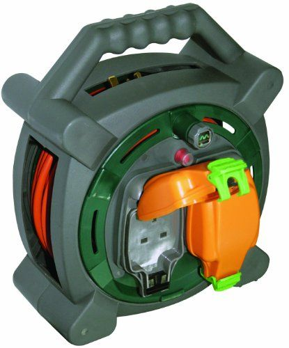 From 30.30:Masterplug Hlp2013/2ip 20m Outdoor Ip Rated Cable Reel With Weatherproof Sockets 13a Case Reel (2 Sockets)