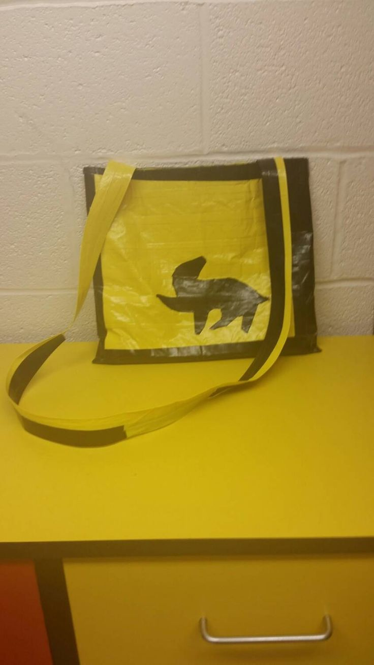 Hufflepuff messenger bag by KatherinesBags on Etsy