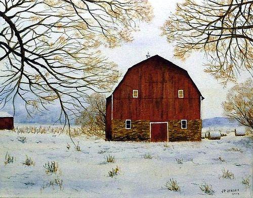 Painting On Barn Wood