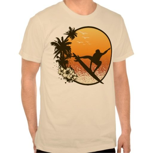 Hawaii Surfing T Shirt