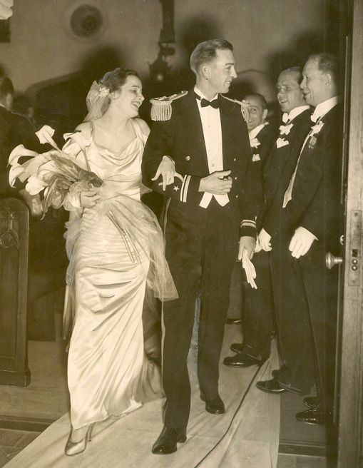 1934 wedding dress.