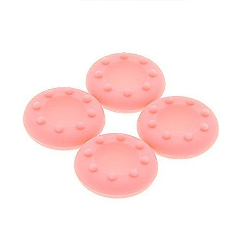 XFUNYTM 1Set 4 Pcs Antiskip Silicone Replacement Key Protector Thumbsticks Grips Cap Cover Analog Joystick Cap Mushroom Caps for PS4PS3XBOX onexbox360 Controller JoypadPink >>> Details can be found by clicking on the image.Note:It is affiliate link to Amazon.