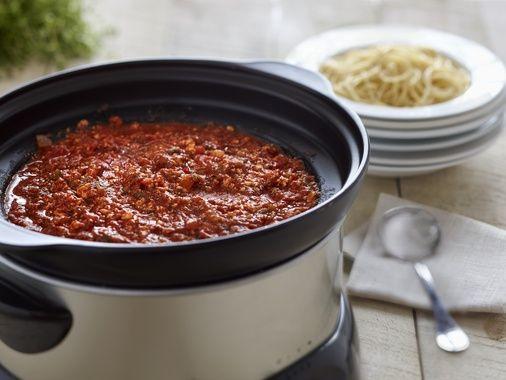Sauce à spaghetti végétarienne à la mijoteuse