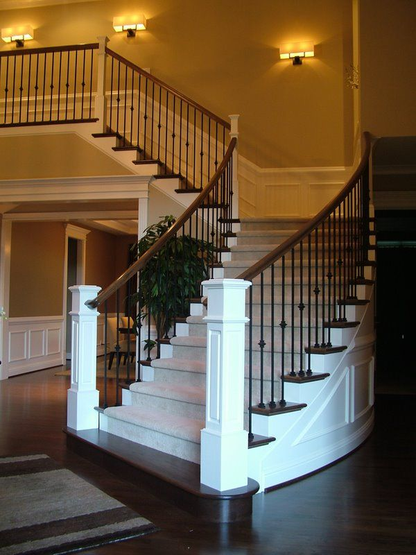 iron balusters - plain, single knuckle