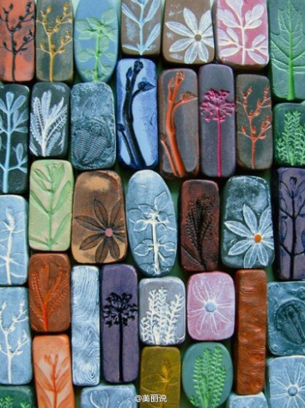 homework: Clay, Ideas, Mothers Day Gifts, Rolls Pin, Magnets, Plants, Step Stones, Flowers, Crafts