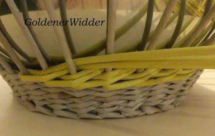 Плетение из газетных трубочек: Послойное плетение двойными трубочками. Корзина. Закрытие послойного плетения.