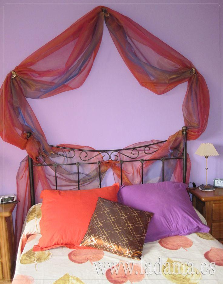 Cabecero de cama con tejido de organza headboards - Cabecero cama tela ...