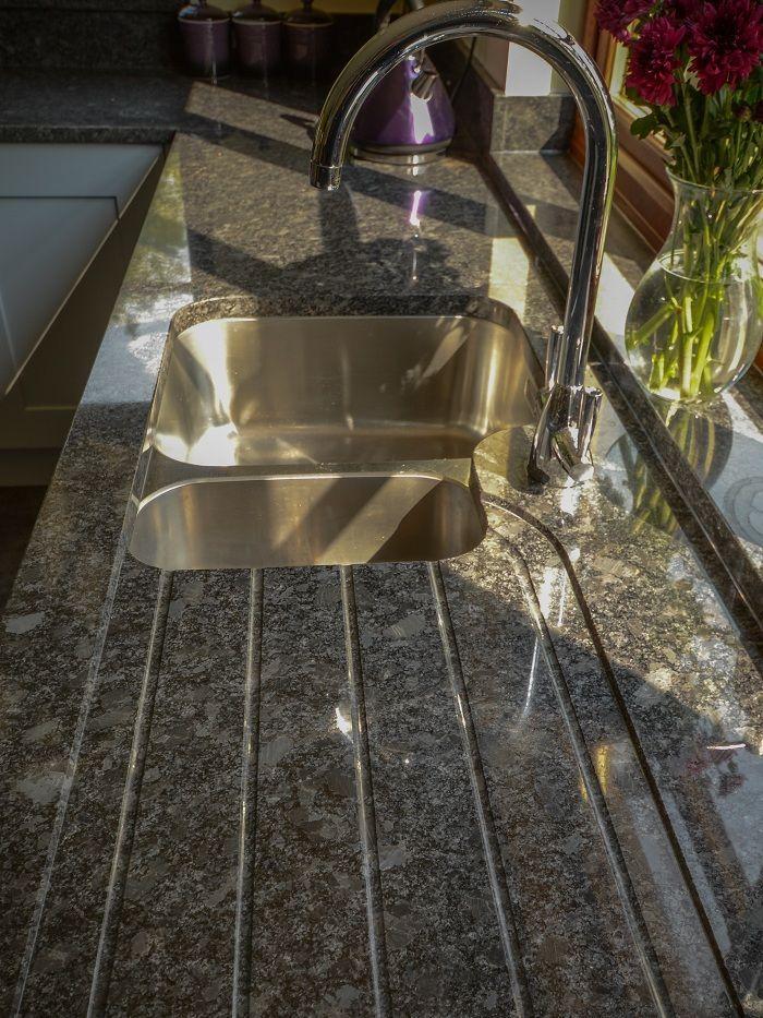 Steel Gray Granite Worktops With Sink Recess In 2020 Granite Worktops Grey Granite Countertops Granite Sink