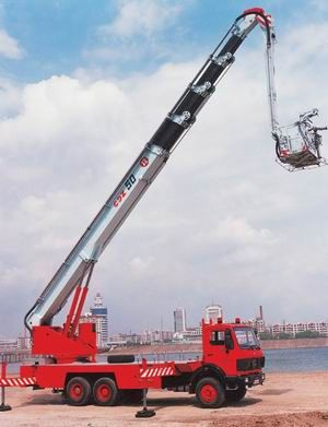 World's most advanced fire truck can reach 400-meter roof - People's Daily Online